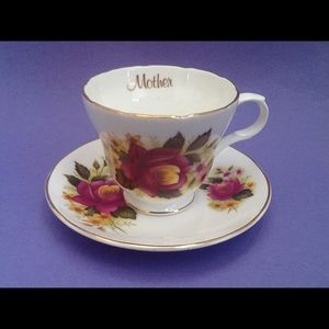 Crown Trent Mother Teacup And Saucer